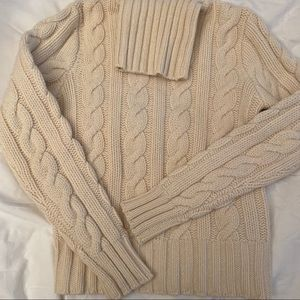 Ralph Lauren cashmere/wool fisherman sweater.